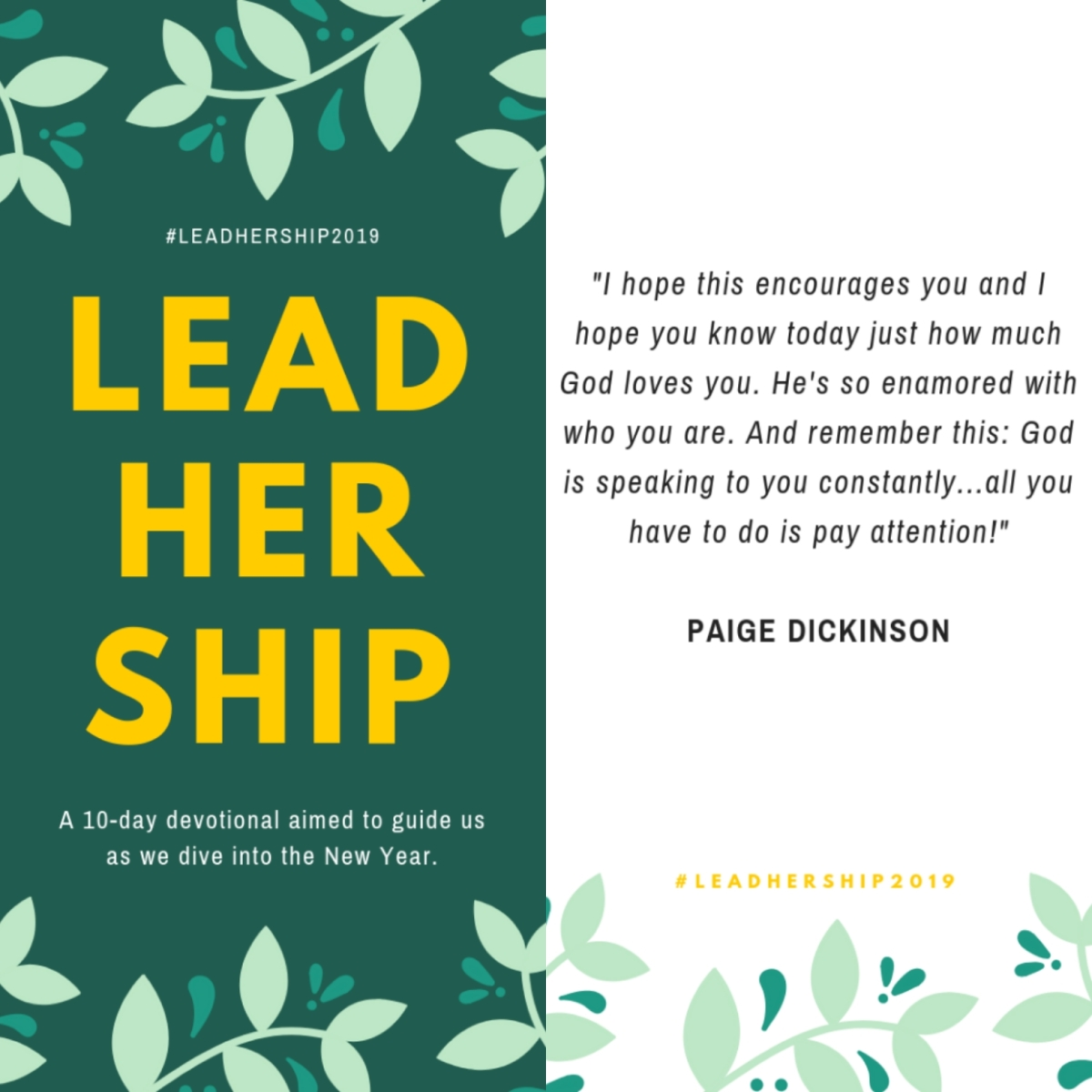 Day 2 #LeadHership2019 God's Lyrics To Us