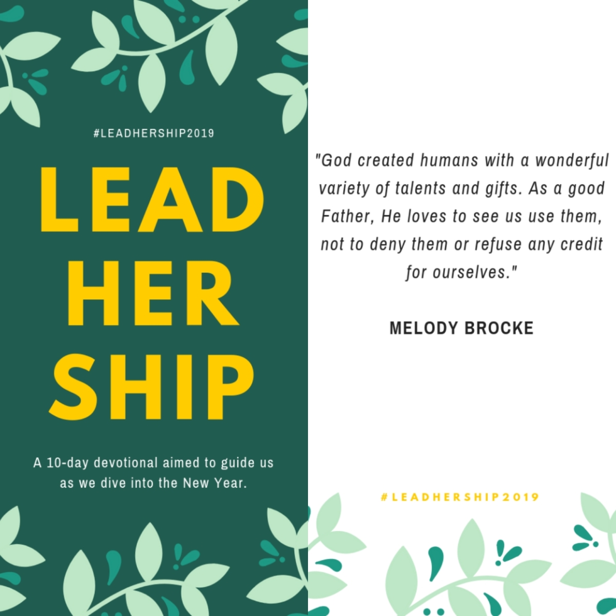 Day 4 #LeadHerShip2019: Good Gifts