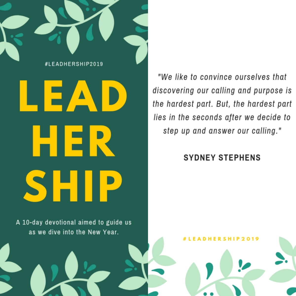 "Day 5 Of #LeadHerShip2019: ""InProgress"""