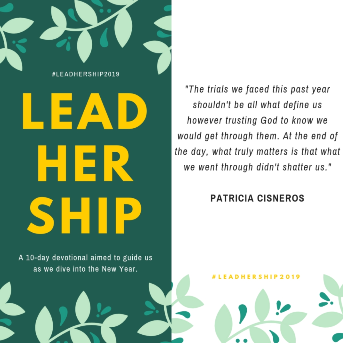 "Day 6 of #LeadHerShip2019 : ""Praising Into The New Year"""