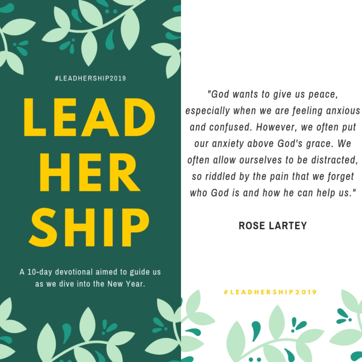"Day 7 of #LeadHerShip2019: ""Trusting God In Seasons of Uncertainty"