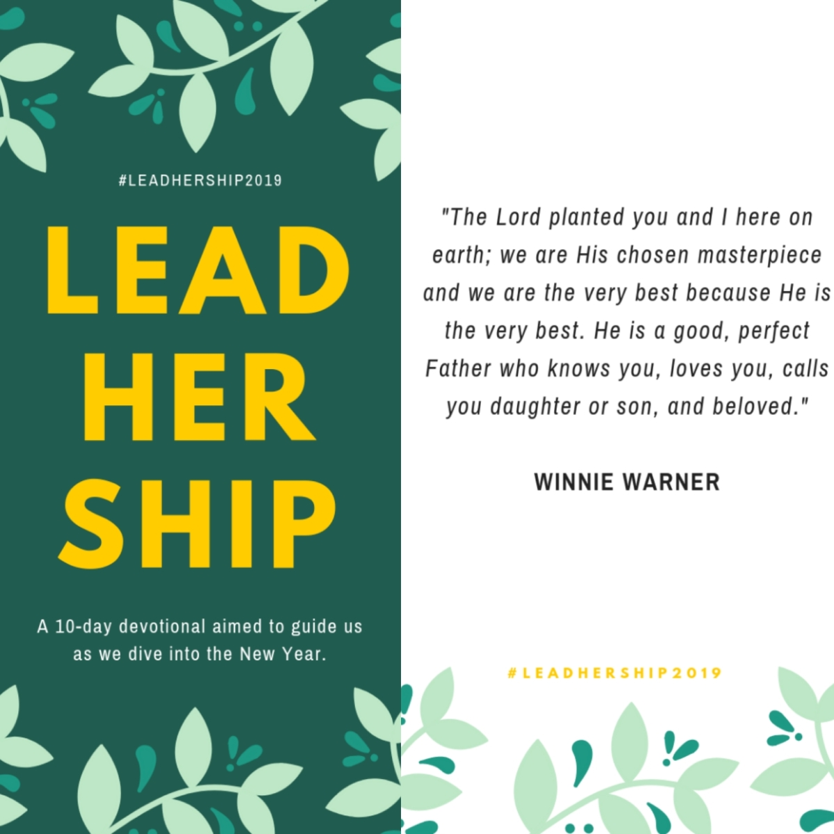 "Last day of #LeadHerShip2019: ""Believe The Identity God Has Spoken Over You"""